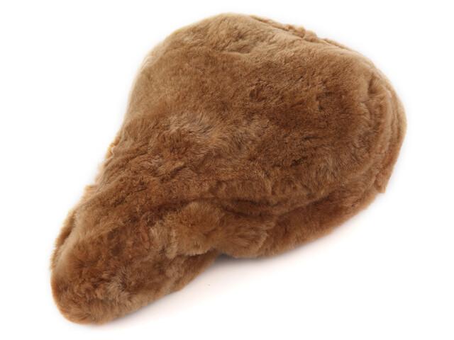 Velo Universal Lammfell Sattelbezug camel